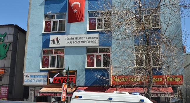 Karsta TÜİK binasına silahlı saldırı
