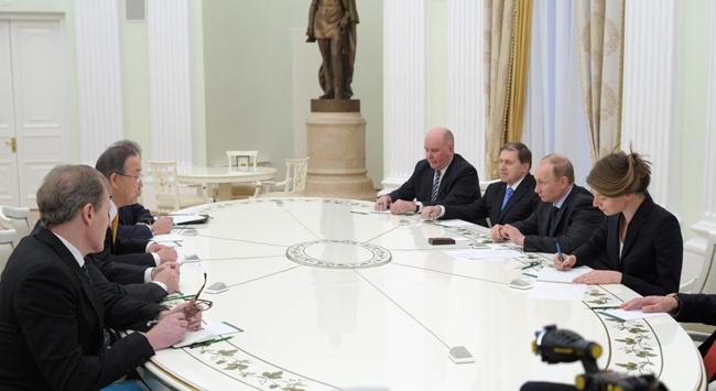 Ban, Putin ve Lavrov ile görüştü