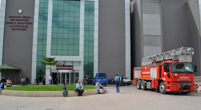 Hatay'da hastanede yangın