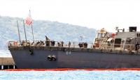"""ABD savaş gemisi """"Carney"""" Bodrumda"""