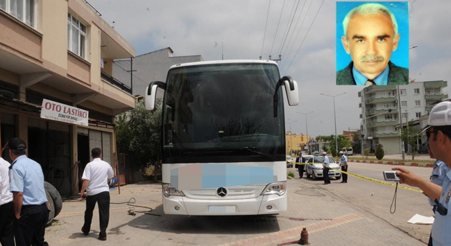 Kriko kaydı otobüsün altında kaldı