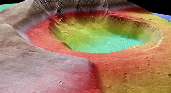 Mars yanardağı yaşam izi saklıyor