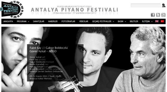 Antalyada Uluslararası Piyano Festivali Başlıyor