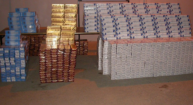 Haburda 37 bin 130 paket kaçak sigaraya el konuldu