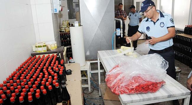 20 bin şişe sahte sirke ele geçirildi