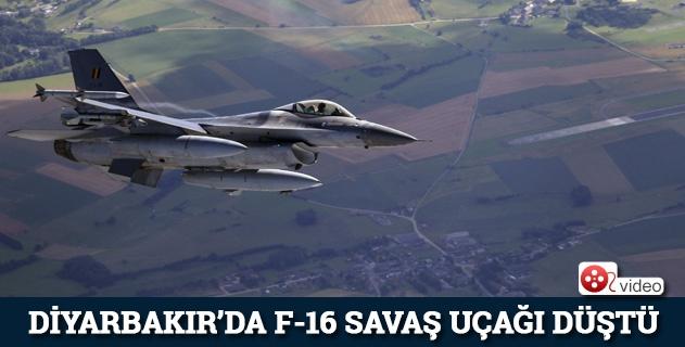 Diyarbakırda F-16 düştü