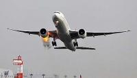 Motoru Alev Alan THY Uçağının Görüntüsü