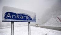 Ankara Güne Kar Yağışı İle Başladı