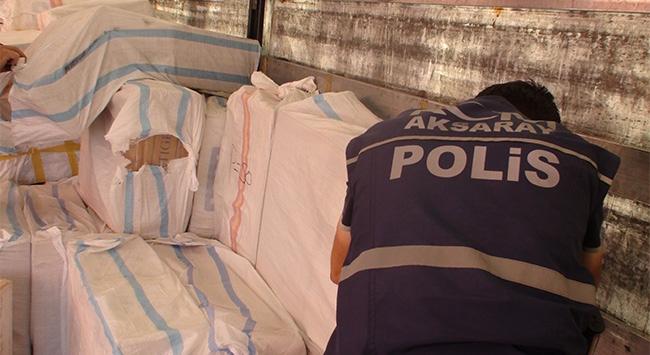 Bebek bezleri arasında 26 bin paket kaçak sigara bulundu