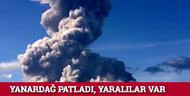 Japonyada yanardağ patladı