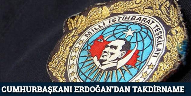 Cumhurbaşkanı Erdoğandan MİTe takdirname