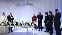 Erdoğan ve Davutoğlu nikah şahitliği yaptı