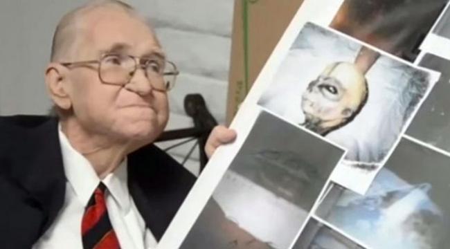 Ölmeden önce uzaylıların fotoğraflarını yayınladı