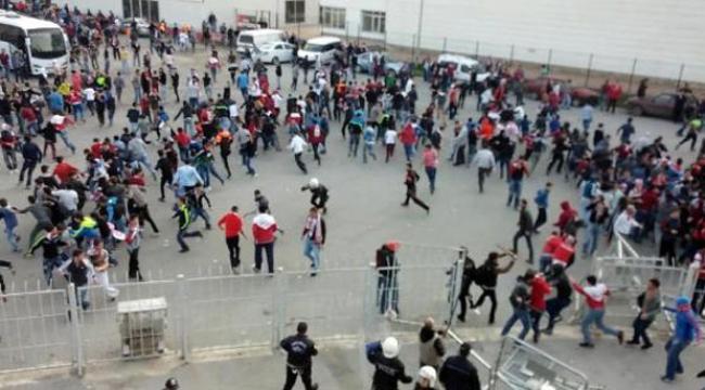 Samsunspor-Yeni Malatyaspor maçında kavga