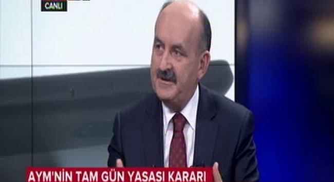 """Müezzinoğludan """"tam gün yasası"""" açıklaması!"""