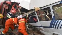 Çinde otobüs kazası:10 ölü