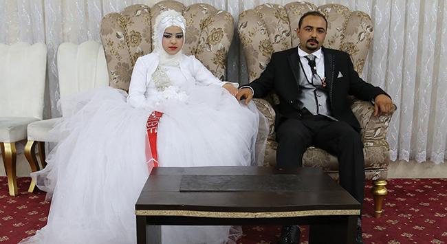 Suriyeli genç kız, Hatayda dünya evine girdi