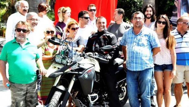 Motosikletle 22 bin kilometre yol katetti