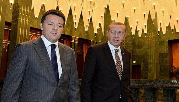 Cumhurbaşkanı Erdoğan Renzi'yi kabul etti