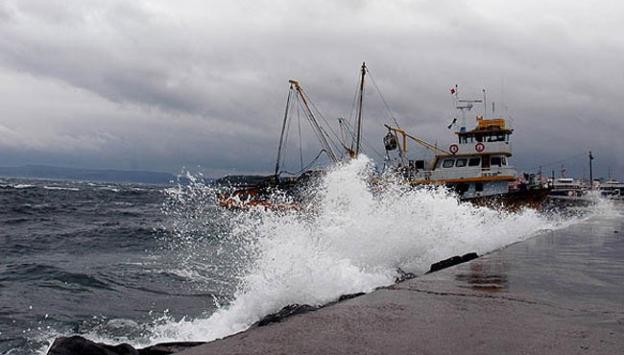 Marmara Denizinde fırtına