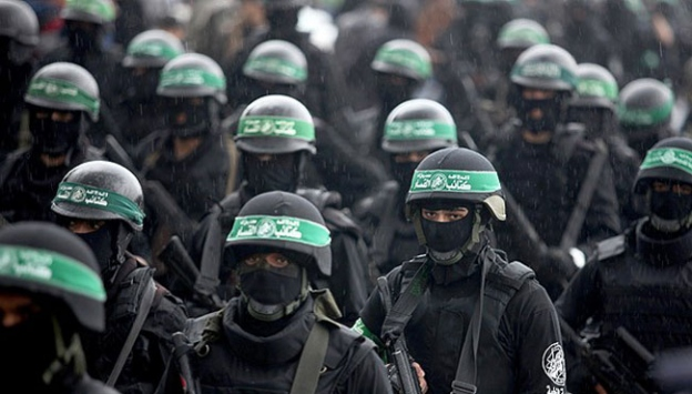Hamasın kuruluş yıl dönümü geçit töreni ile kutlandı