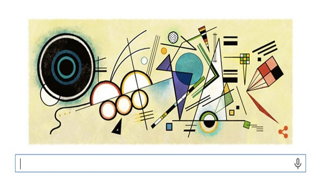 Googledan, Kandinskyye özel logo