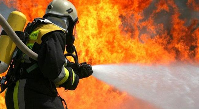 Merzifonda çatı yangını