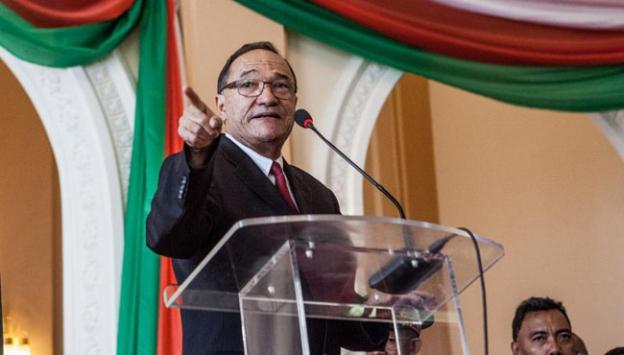 Madagaskar başbakanı roger kolo devlet başkanı hery