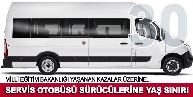 Servis otobüsü sürücülerine yaş sınırı