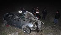 Kırşehirde otomobil şarampole yuvarlandı: 1 ölü