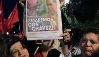 Venezüela'da Chavez'e Destek Gösterisi