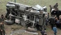 Van'da İki Askeri Araç Kaza Yaptı