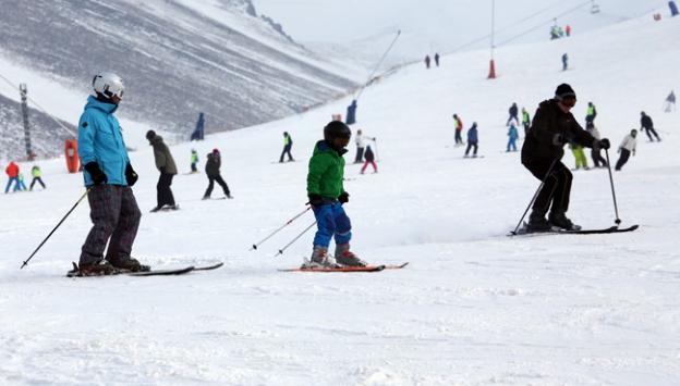Palandökende kayak heyecanı başladı