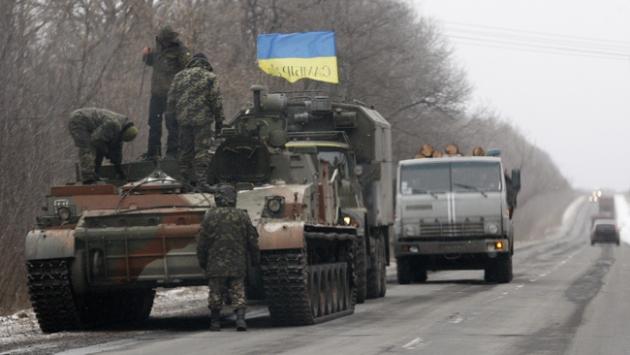 Ukrayna askerleri Debaltseveden çekiliyor