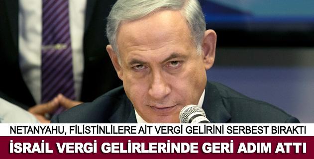 İsrail vergi gelirlerinde geri adım attı