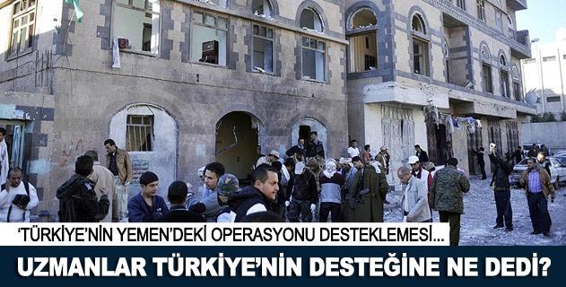 Uzmanlar Türkiyenin desteğini değerlendirdi