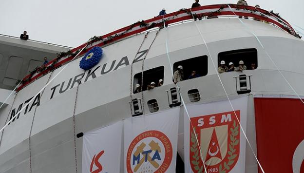 Yerli sismik araştırma gemisi TURKUAZ denize indirildi
