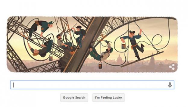 Eyfel Kulesi Google'da doodle oldu