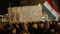 Macaristan'da Anayasa Protestosu