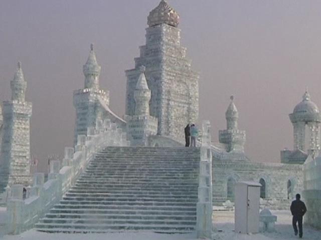 Çinde Buzdan Şehir