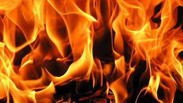 Aydında iş yeri yangını