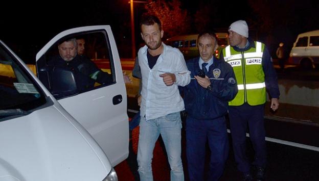 Alkollü sürücü polislere zor anlar yaşattı