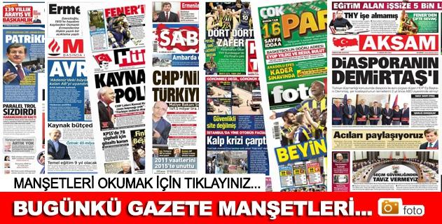 21 Nisan 2015 Gazete Manşetleri