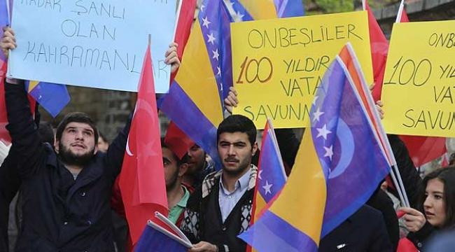 Ermeni iddialarına bayraklı tepki!