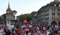 İsviçrede Ermeni iddiaları protestosu