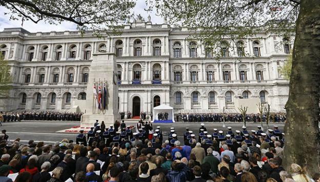 Londrada anma töreni düzenlendi