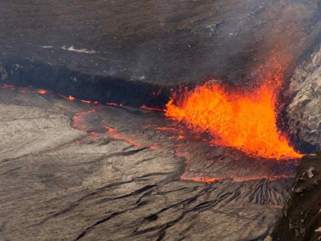 Büyüleyen volkan görüntüleri