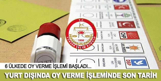Yurt dışında oy verme işlemi