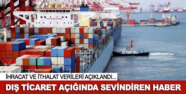 Dış ticaret açığında sevindiren haberler