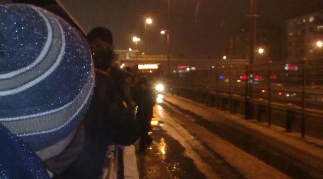 İstanbulda Kar Çilesi